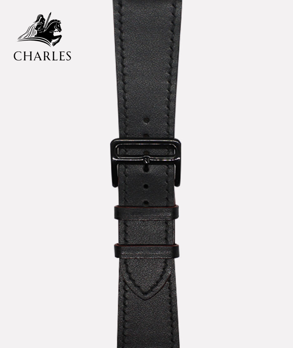 Dây da Apple Watch Charles cho đồng hồ Apple Watch Nappa Đen