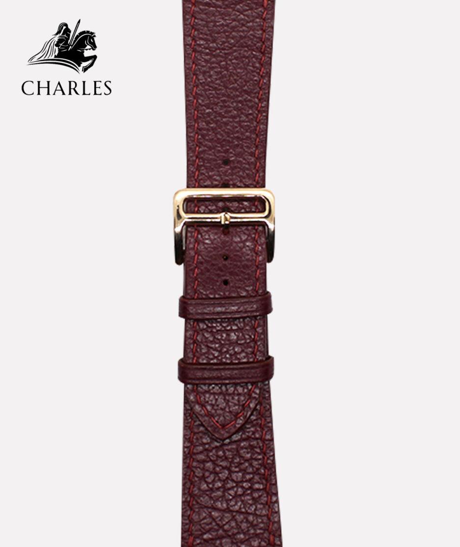 Dây da Apple Watch Charles cho đồng hồ Apple Watch Nappa Mận