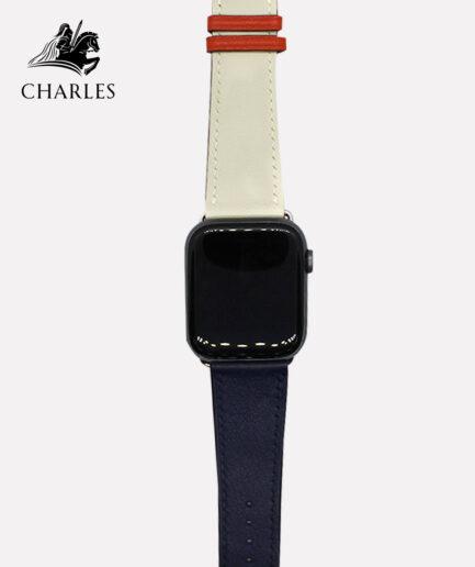 Dây da Apple Watch Charles cho đồng hồ Apple Watch Swift Xanh Kem