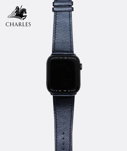 Dây da Apple Watch Charles cho đồng hồ Apple Watch Nappa Xanh Navy