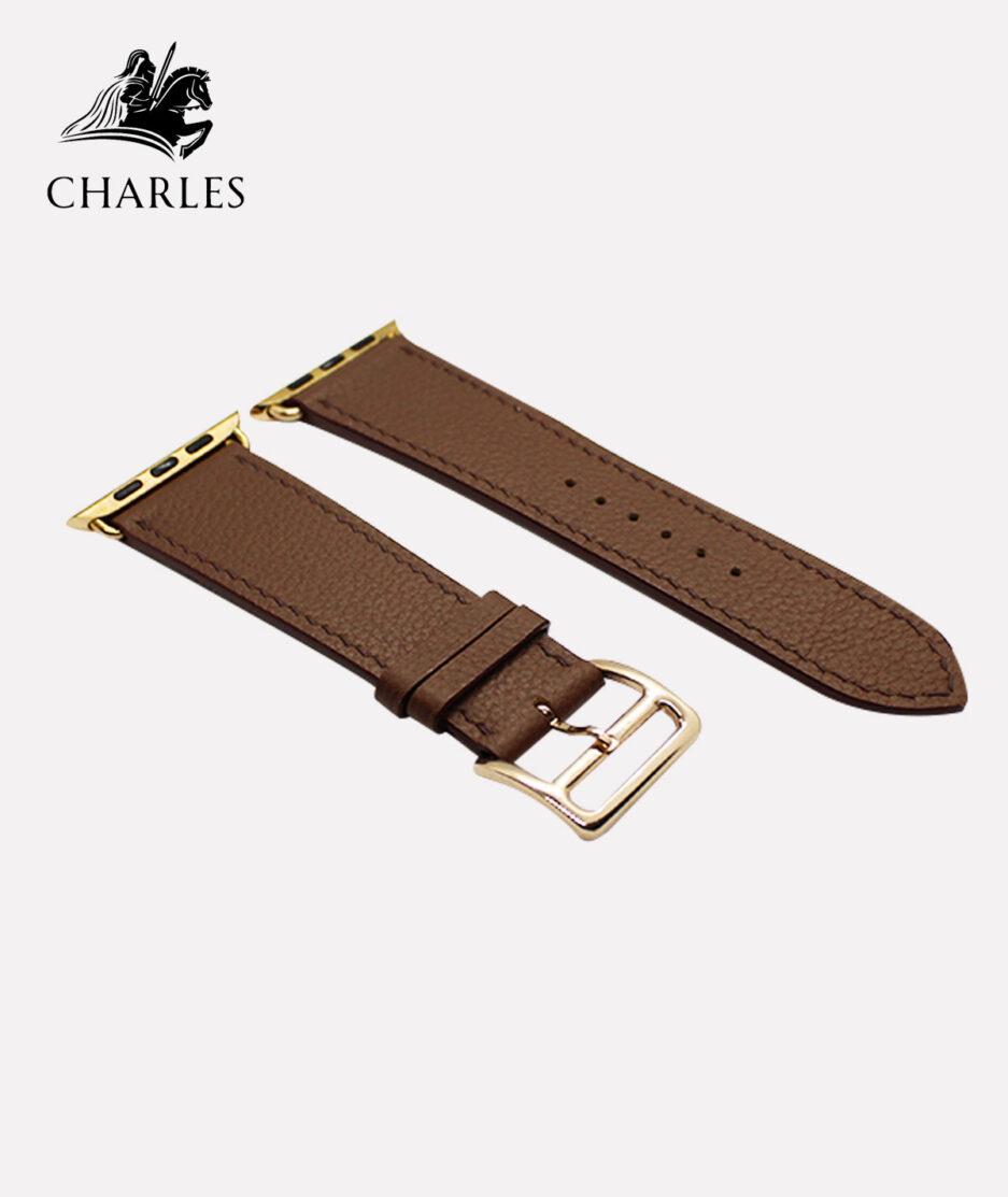 Dây da Apple Watch Charles cho đồng hồ Apple Watch Nappa Chocolate