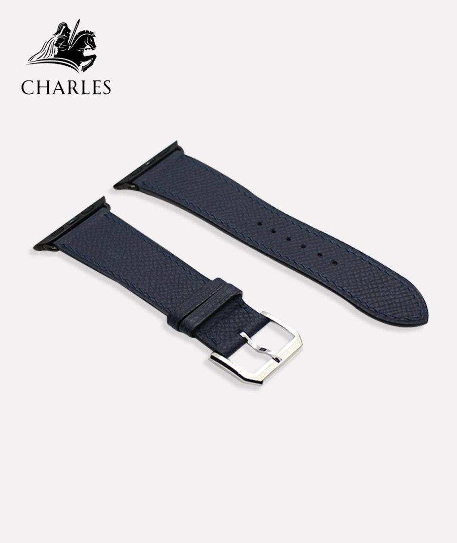 Dây da Apple Watch Charles cho đồng hồ Apple Watch Nappa Xanh