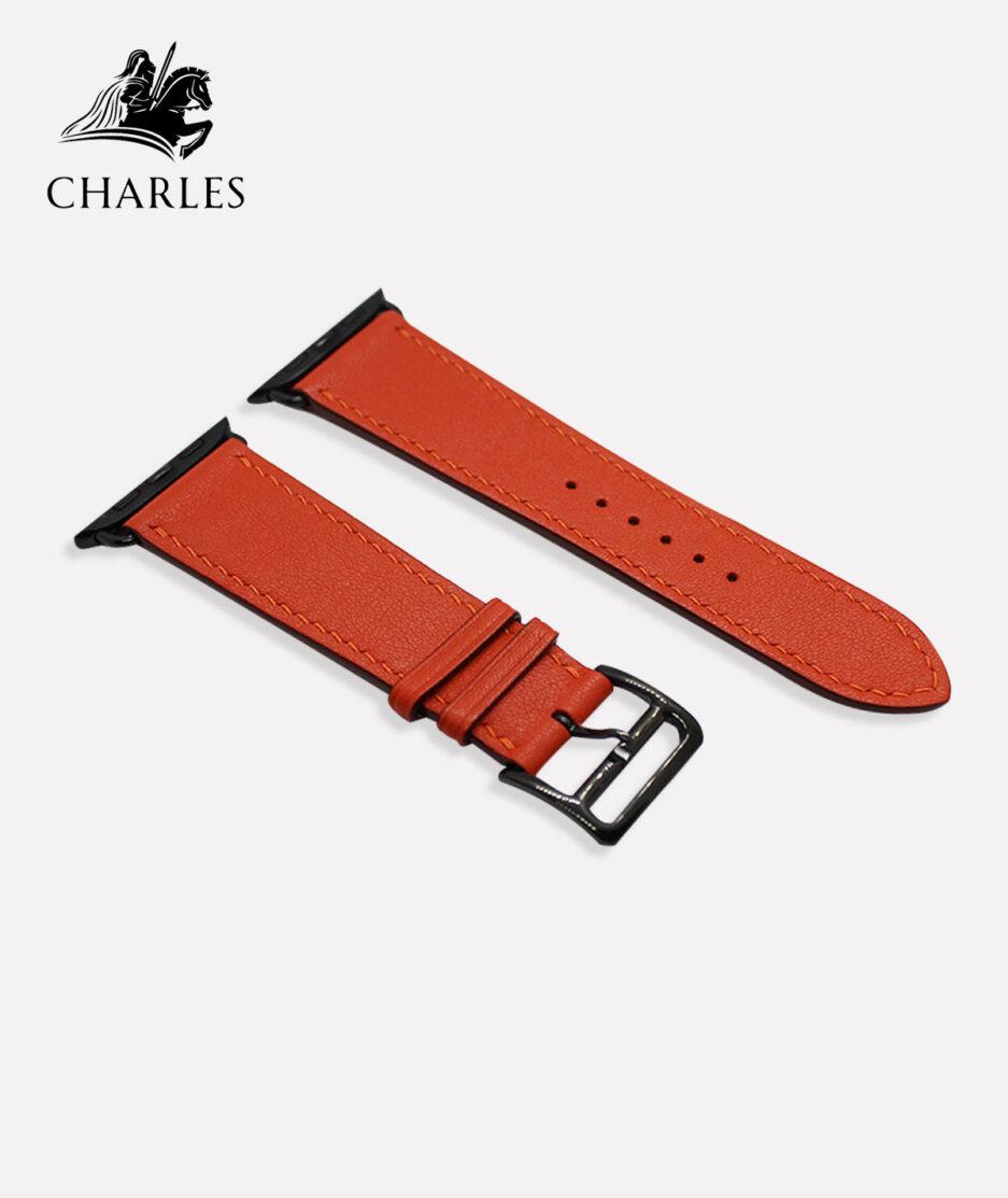 Dây da Apple Watch Charles cho đồng hồ Apple Watch Nappa Cam