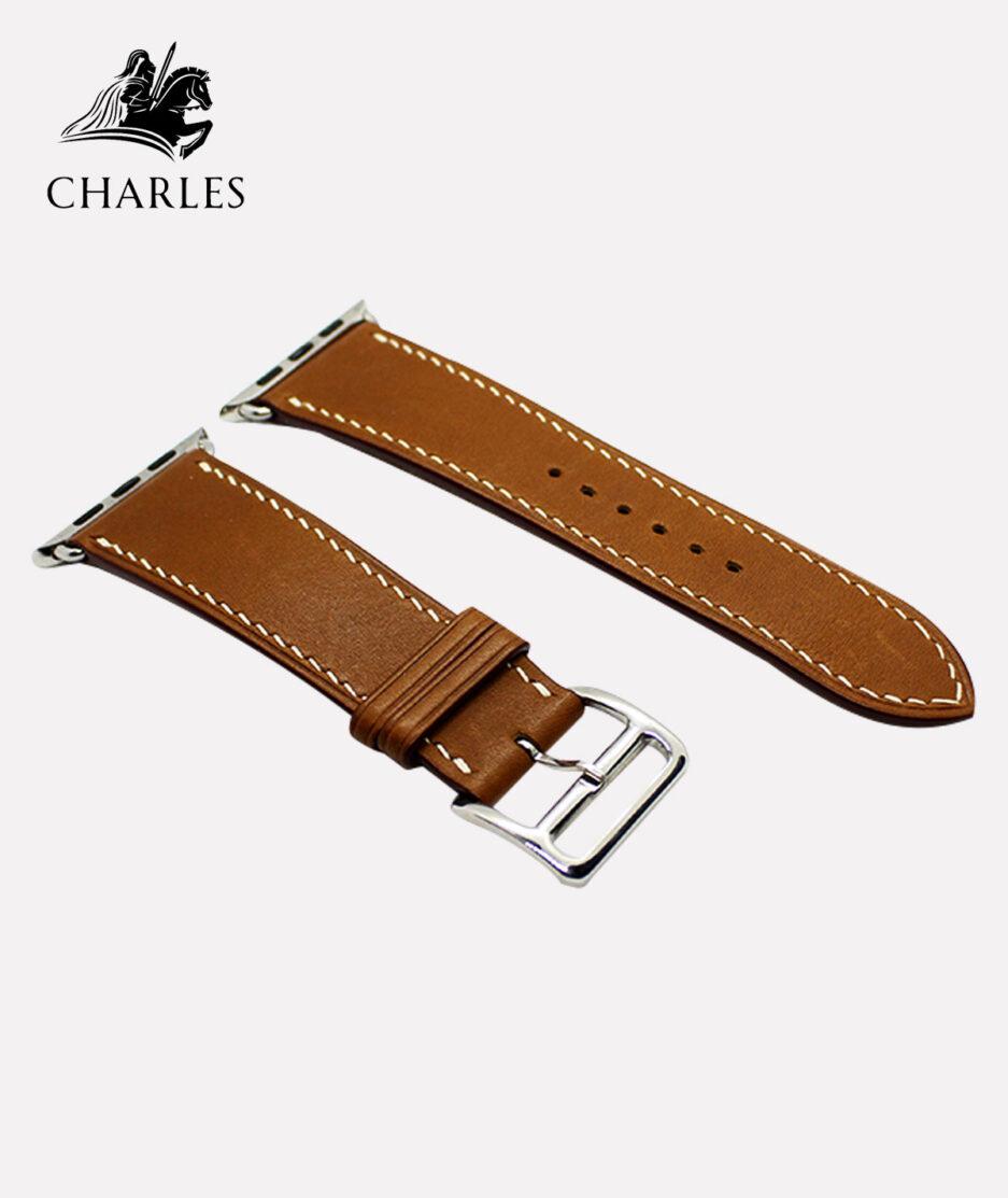 Dây da Apple Watch Charles cho đồng hồ Apple Watch Barenia Trơn