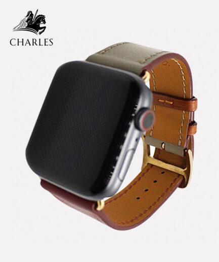 Dây da Apple Watch Charles cho đồng hồ Apple Watch Nappa Đỏ Kem